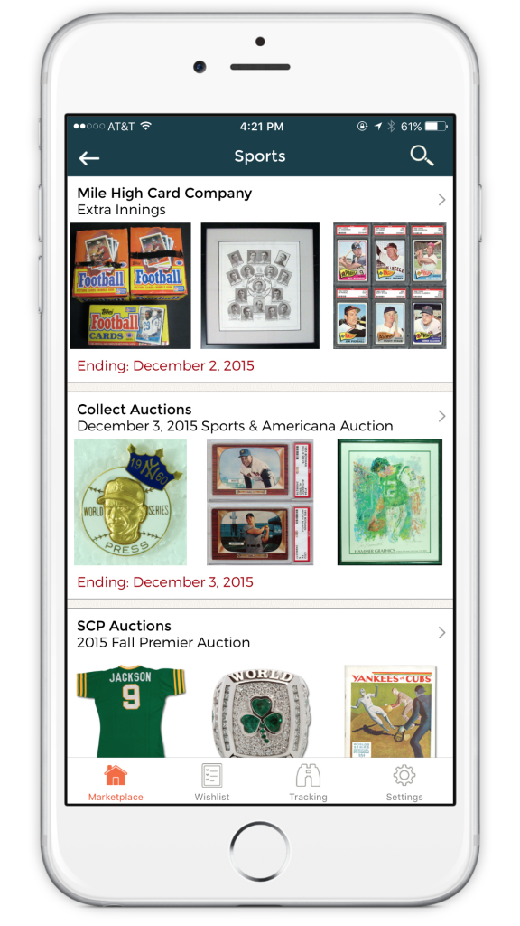 Collectable app
