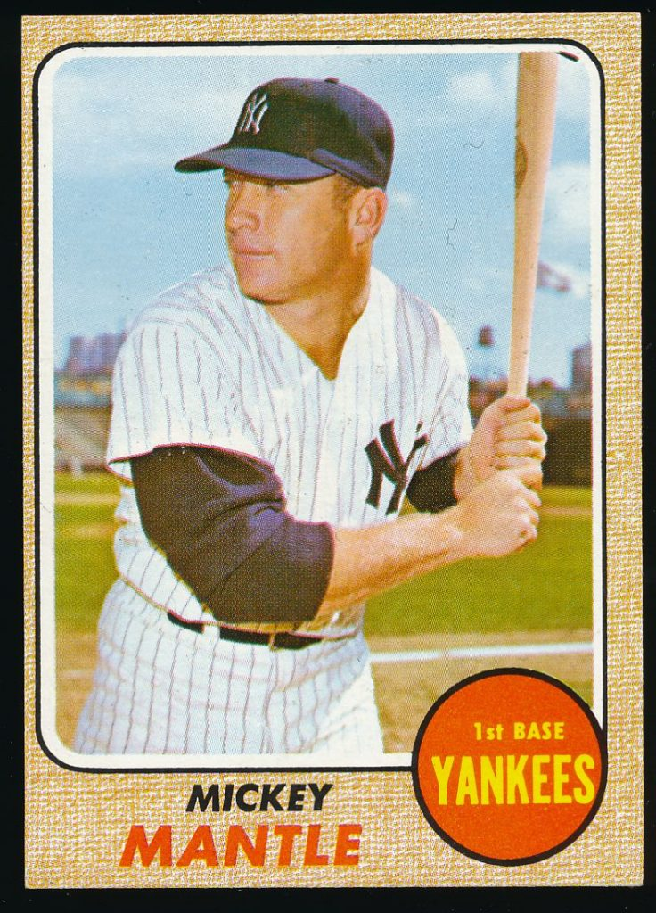 Mickey Mantle 1968 Topps