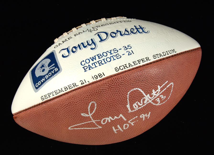 Tony Dorsett game ball