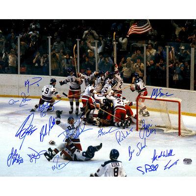 1980 US Olympic hockey autographed photo