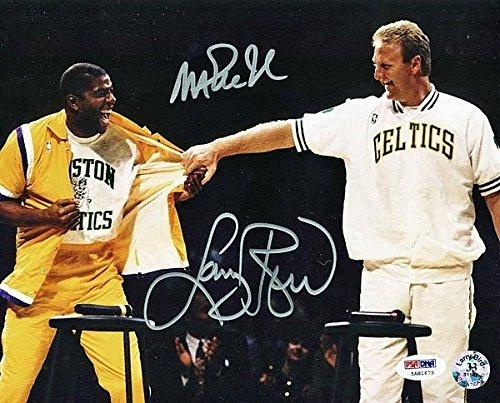 Larry Bird-Magic Johnson autographed photo