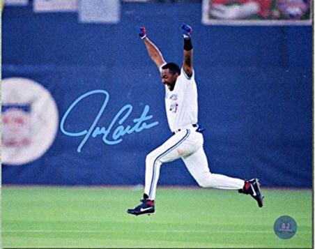 Autographed Joe Carter 1993 World Series photo
