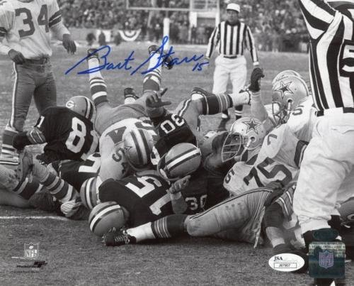 Autographed Bart Starr Ice Bowl photo