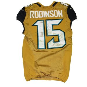 Game-worn Jaguars gold Allen Robinson jersey