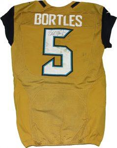 Jaguars gold jersey Blake Bortles game worn
