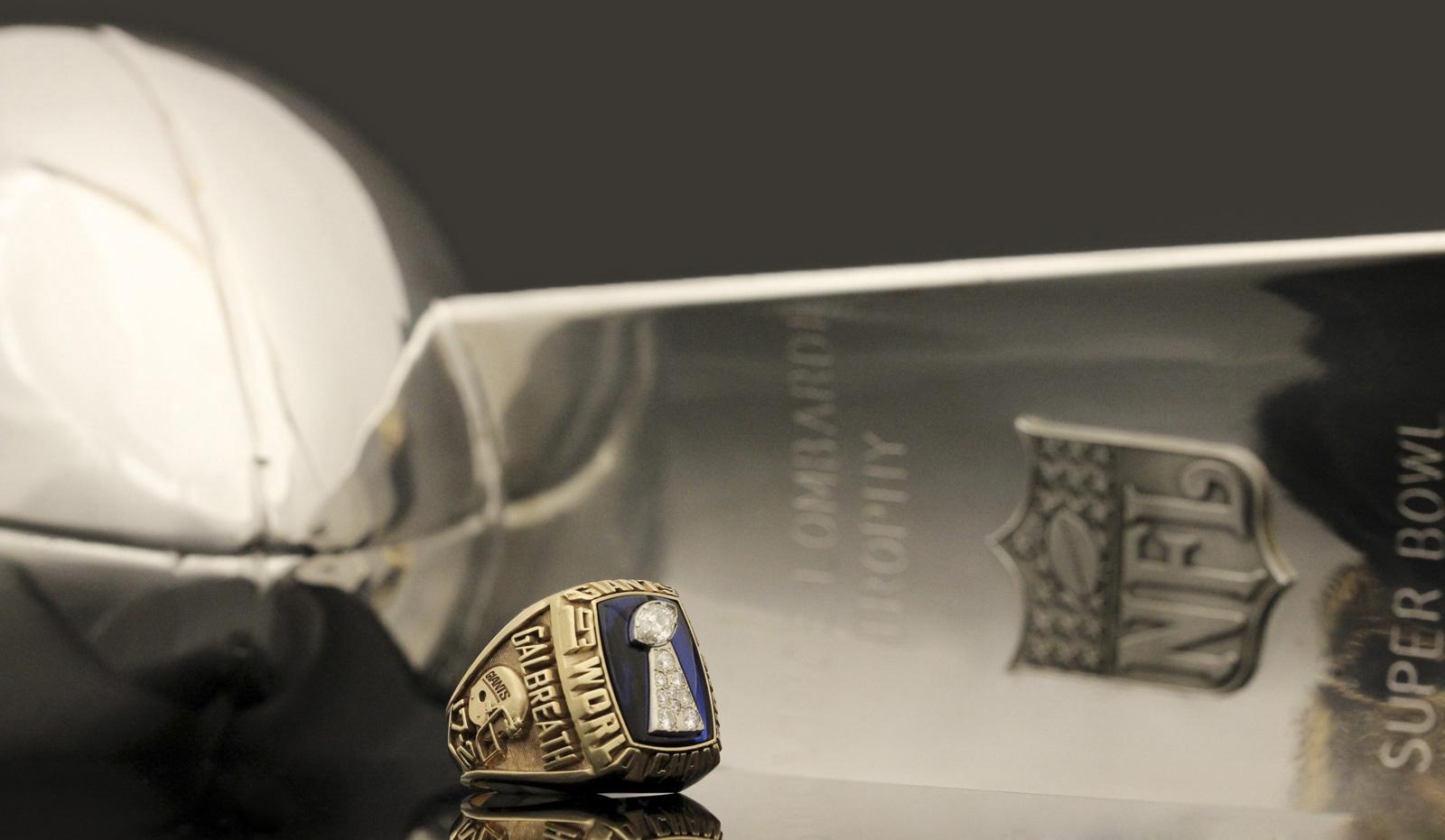 Tony Galbreath Super Bowl ring-trophy