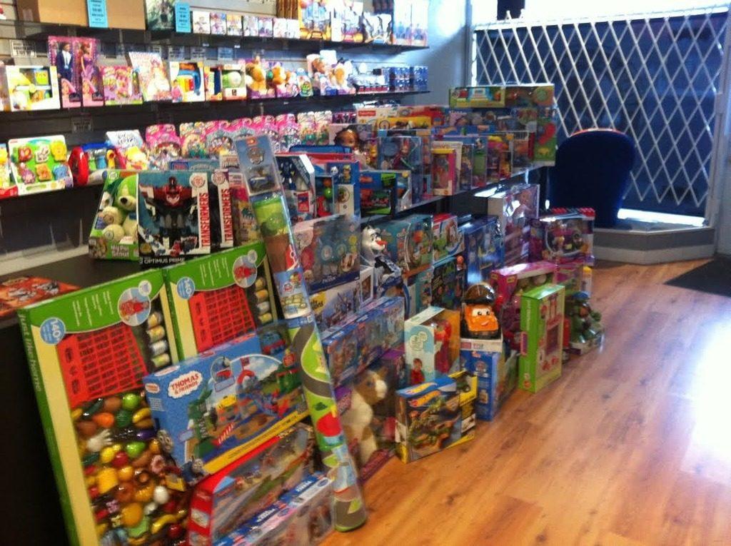 toys at card shop