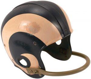 Game-used Roman Gabriel helmet