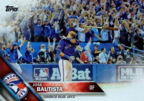 Bautista bat flip baseball card 2016 Topps Series 1