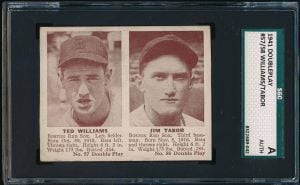 Image of 1941 Double Play Ted Williams with Tabor
