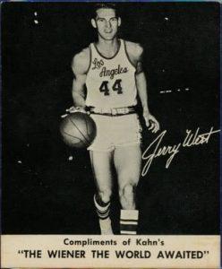 1960 Kahn's basketball card Jerry West