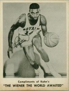 1963 Kahn's Oscar Robertson basketball card