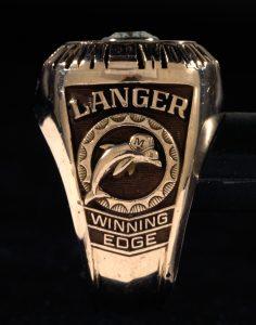 Jim Langer Super Bowl VII Dolphins ring
