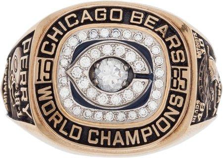 Super Bowl XX ring William Perry