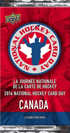 National Hockey Card Day 2016 Canada pack