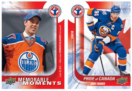 National Hockey Card Day Canadian cards 2016