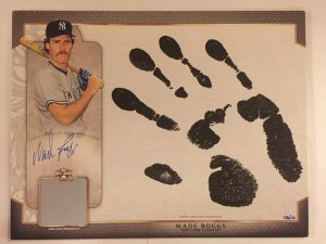 Wade Boggs hand print relic