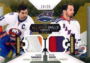 Rick Nash-John Tavares game used 2015-16