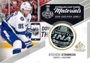 Game used puck card Steven Stamkos Game Used hockey Upper Deck