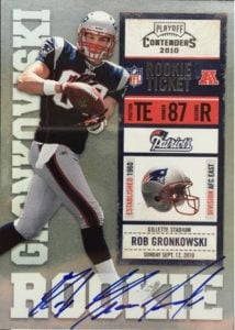 Rob Gronkowski rookie card 2010 Playoff Contenders auto