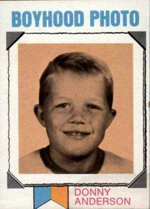 Donny Anderson boyhood photo card 1973 Topps