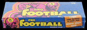1973 Topps football display box