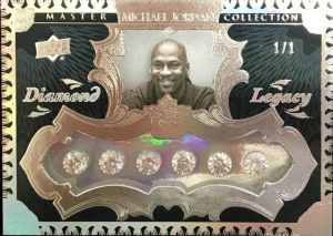 2015 Upper Deck All-Time Greats Master Collection Michael Jordan Diamond Legacy card