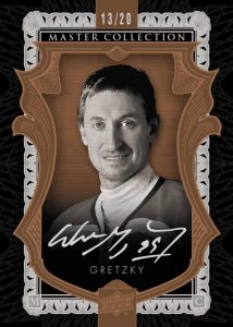 2015 Upper Deck All-Time Greats Master Collection Wayne Gretzky autographed card