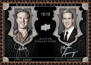 Elway-Manning autographed 2015 Upper Deck All-Time Greats