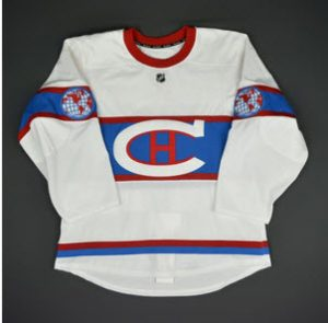 Throwback Montreal Canadiens jersey