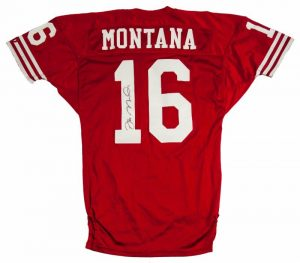 Game used Joe Montana 49ers jersey 1990