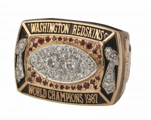 Mark Rypien Super Bowl XXII ring