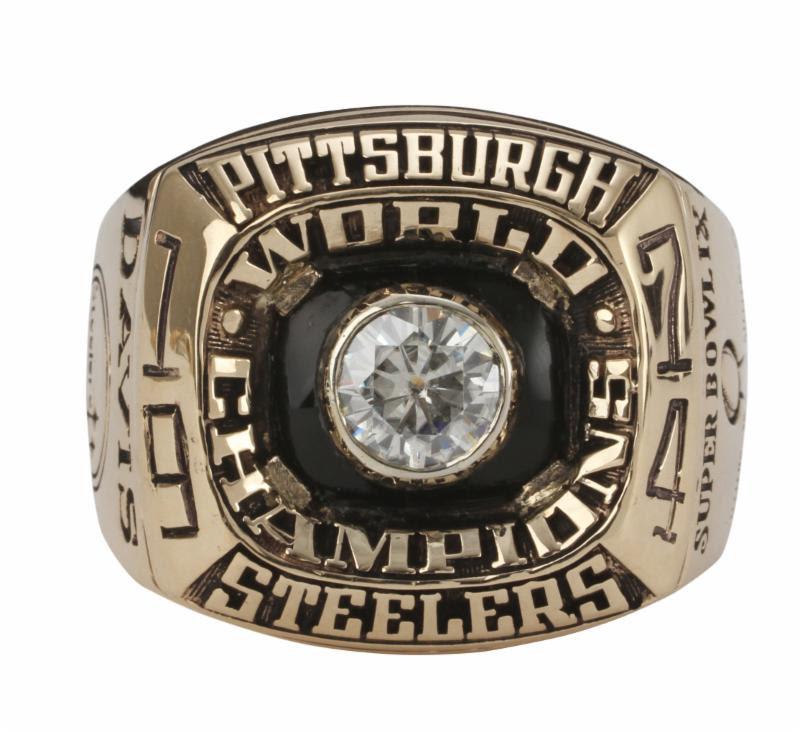 Charles Davis Super Bowl IX ring Pittsburgh Steelers