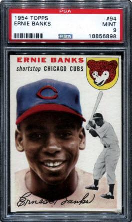 Ernie Banks Rookie Card Mint PSA 9