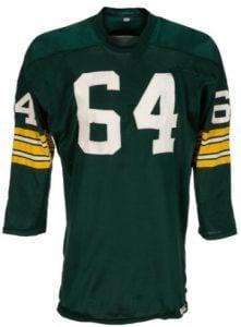 Super Bowl I Packers game jersey Jerry Kramer