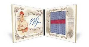 2016 Topps Allen Ginter Mike Trout auto book