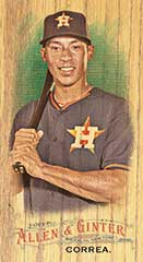 Carlos Correa 2016 Topps Allen Ginter wood