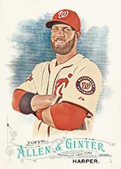 Topps 2016 Allen Ginter Bryce Harper base card