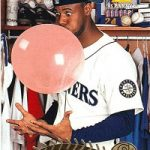 Pinnacle baseball card Ken Griffey Jr bubble
