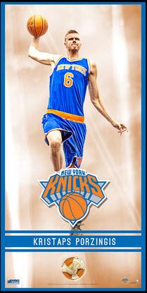 Knicks game used net piece Kristaps Porzingis