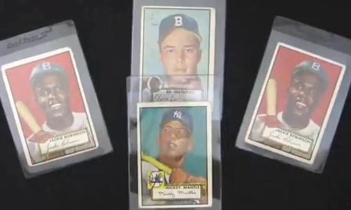 1952 Topps baseball cards Mickey Mantle Jackie Robinson