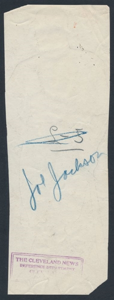 1911 Cleveland News photo back Joe Jackson