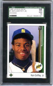 Ken Griffey Jr. rookie card 1989 Upper Deck