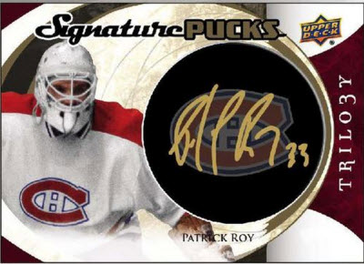 Signature Pucks 2015-16 Trilogy Hockey Patrick Roy
