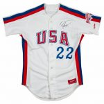 1984 US Olympic team game jersey Barry Larkin