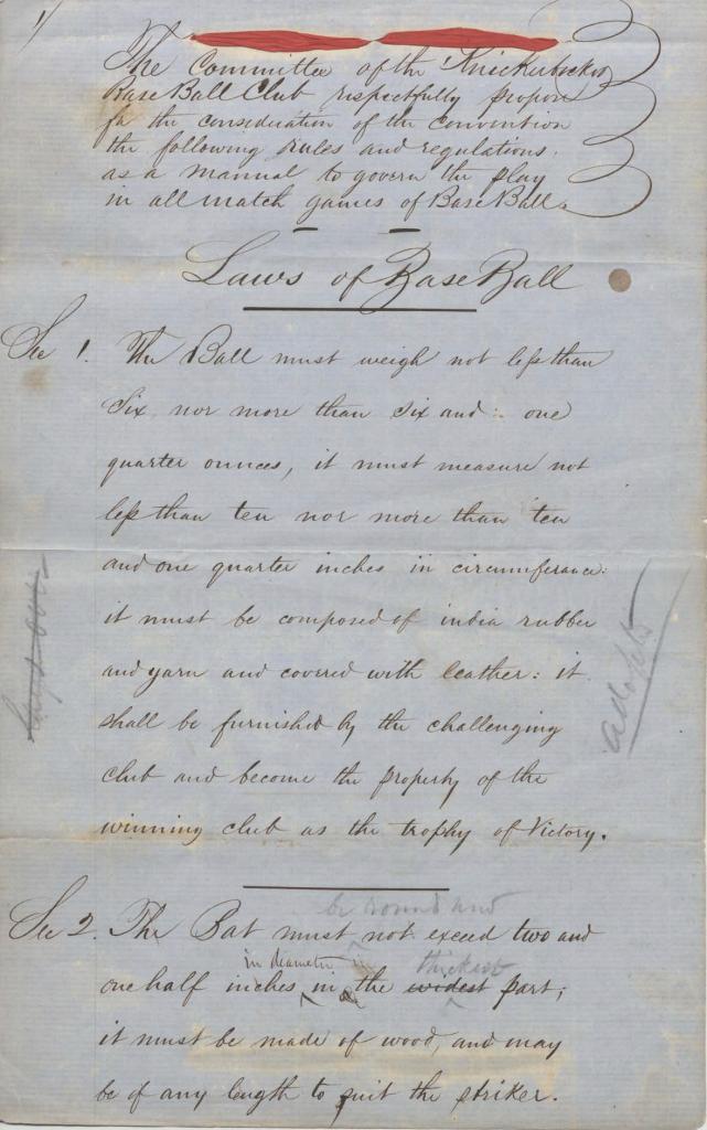 1857 Laws of Baseball