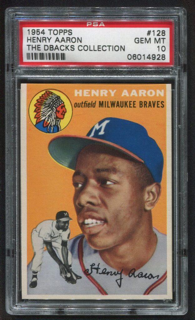 PSA 10 1954 Topps Hank Aaron rookie card