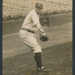 1922 Babe Ruth photograph throwing