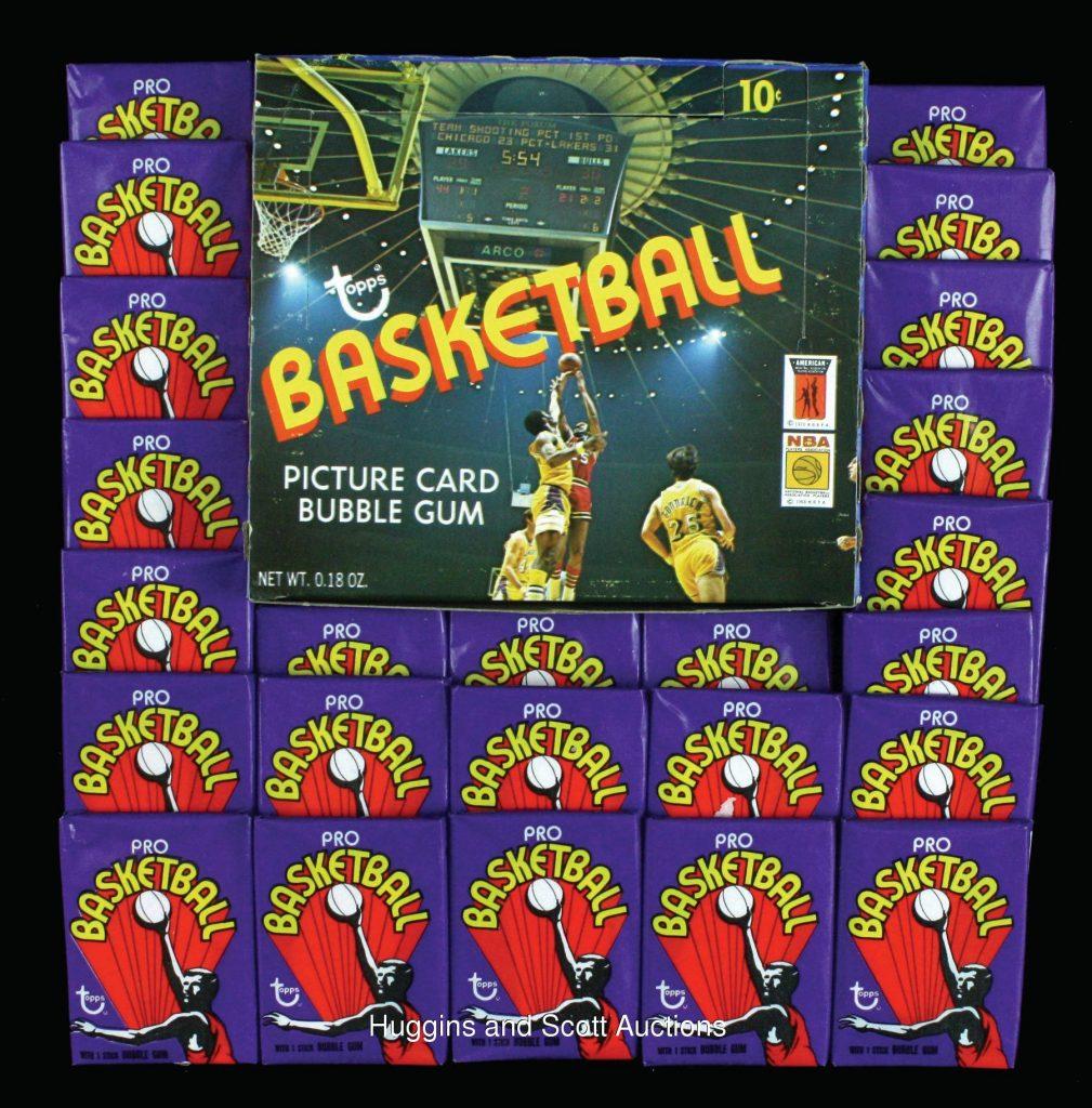 1972-73 Topps basketball packs box