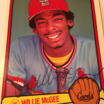 Willie McGee 1983 Donruss autographed